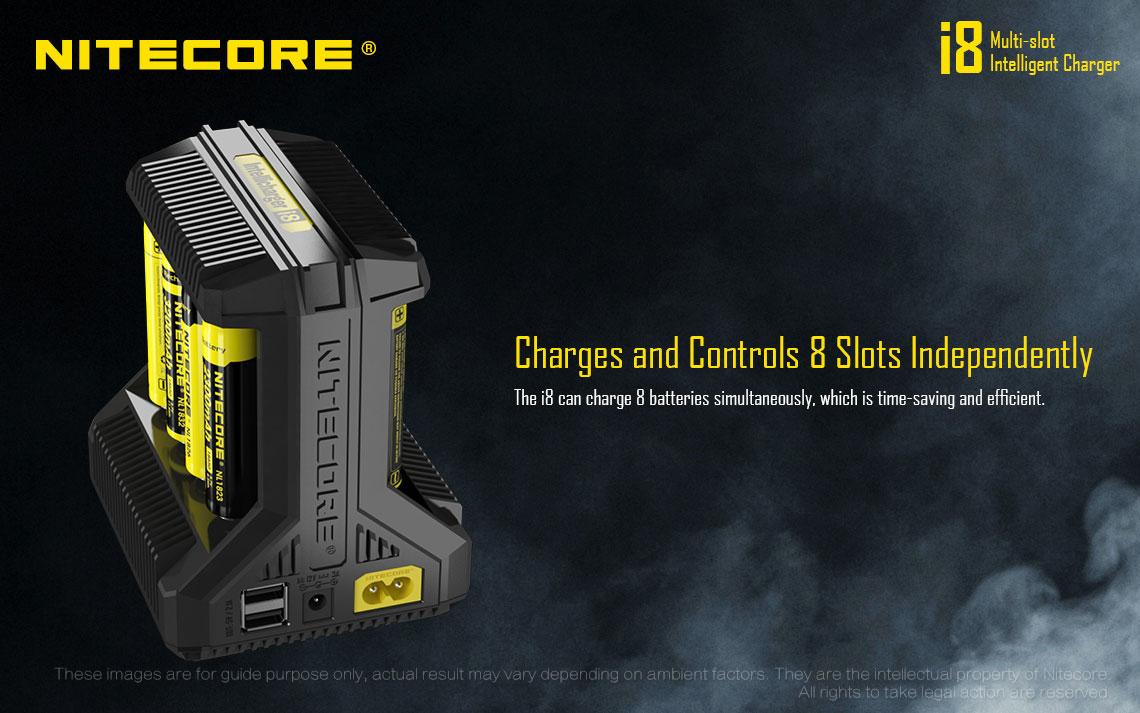 Nitecore i8 nabíjačka na batérie