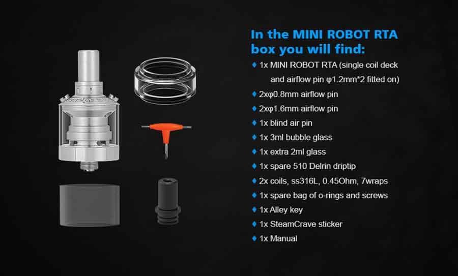 Steam Crave Mini Robot MTL RTA 23mm (www.e-smoke.sk)