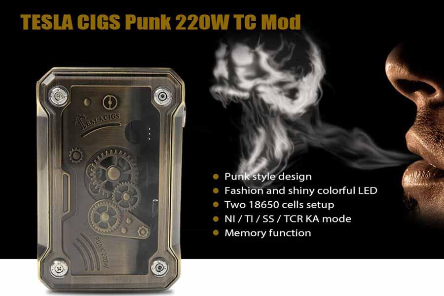 Teslacigs Punk 220W TC Box MOD (www.e-smoke.sk)