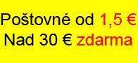 Objednaj nad 50 € a poštovné a balné máš ZADARMO