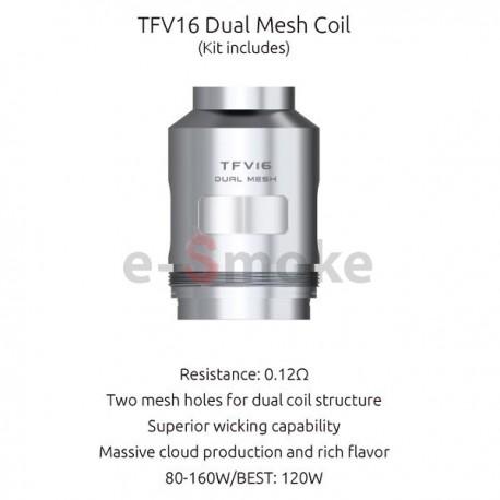 SMOK TFV16 Dual Mesh žhaviaca hlava 0,12Ω