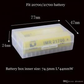 Plastové puzdro na batérie 2x21700