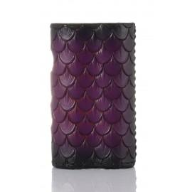 DANI BOX 21700 kožené púzdro - čierno fialová fish scales