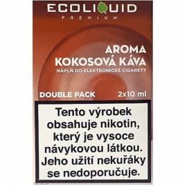 2-Pack Coconut Coffee ECOLIQUID e-liquid