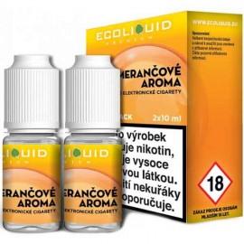2-Pack Orange ECOLIQUID e-liquid