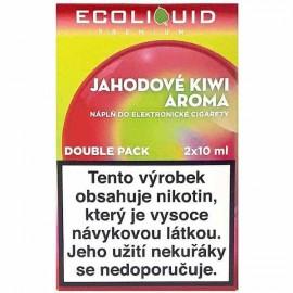2-Pack Strawberry Kiwi ECOLIQUID e-liquid