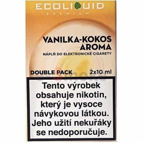 2-Pack Vanilla Coconut ECOLIQUID e-liquid