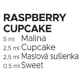 60 ml Raspberry Cupcake Catch'a Bana MIX recept