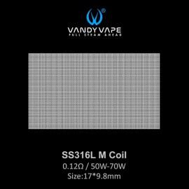 Vandy Vape SS316L M Coil mesh 0.12ohm - 10ks