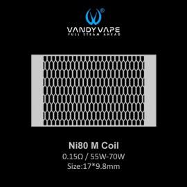 Vandy Vape Ni80 M Coil mesh 0.15ohm - 10ks