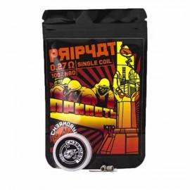 2ks Chernobyl Coils Prypiat Coil Ni80 0,27Ω špirálky
