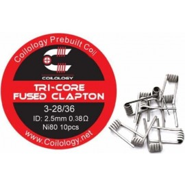 10ks Coilology Tri-Core Fused Clapton NI80 špirálky