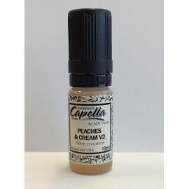 10 ml Peaches & Cream V2 Capella aróma