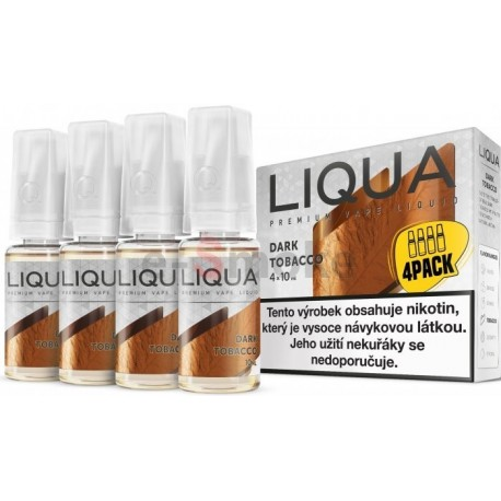 4-Pack Silný tabak LIQUA ELEMENTS E-LIQUID