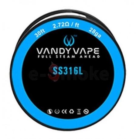 Vandy Vape SS316L 28GA 9m
