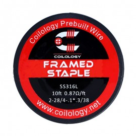 Coilology Framed Staple SS316L odporový drôt (3m)