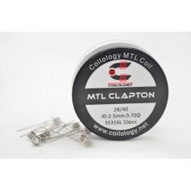 10ks Coilology MTL Clapton SS316L špirálky