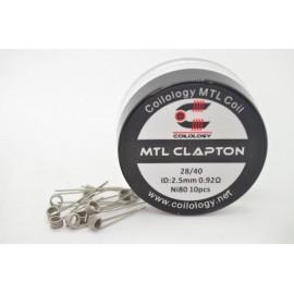 10ks Coilology MTL Clapton Ni80 špirálky
