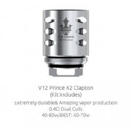 SMOK V12 Prince X2 Clapton 0,4 Ohm žhaviaca hlava