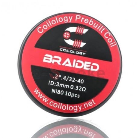 10ks Coilology Braided Ni80 špirálky