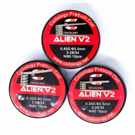 10ks Coilology Alien V2 Ni80 špirálky