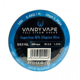 Vandy Vape SS316L Superfine MTL Clapton_30ga+38ga