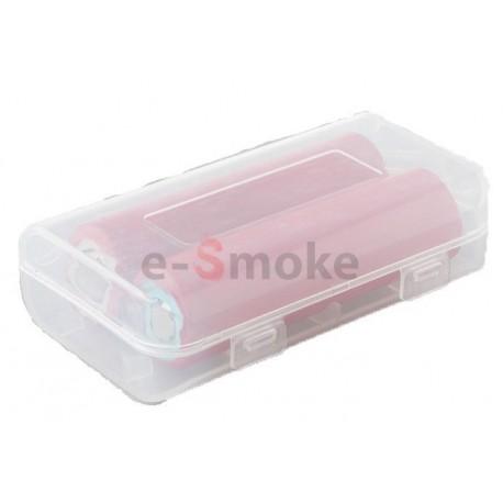 Plastové puzdro na batérie 2x18650