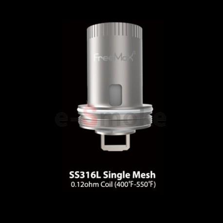 FreeMax SS316L Single Mesh coil 0.12ohm