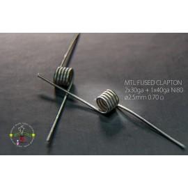 Ketchi Coils Ni80 MTL Fused Clapton 0,75Ω