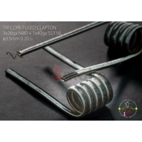 Ketchi Coils Ni80+SS316L TriCore Fused Clapton 0,2Ω