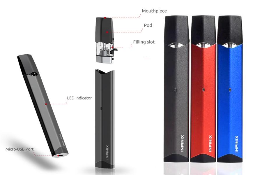 Smok Infinix sada farby a parametre (e-smoke.sk)
