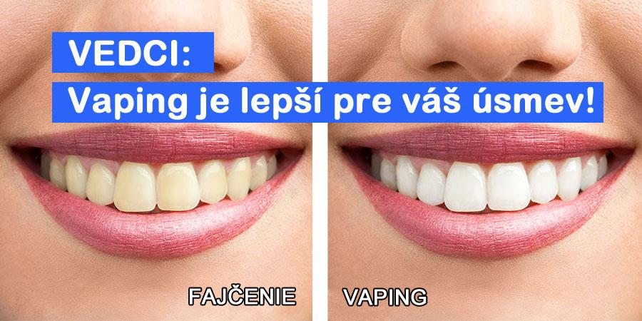 Vaping je lepší pre váš úsmev, tvrdia vedci! (www.e-smoke.sk)