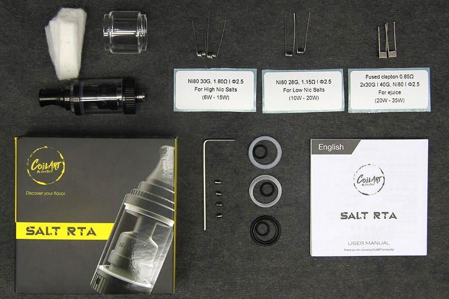 Coilart SALT RTA atomizér (www.e-smoke.sk)