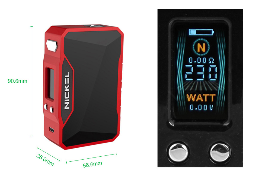 DOVPO Nickel 230W TC Box MOD (www.e-smoke.sk)