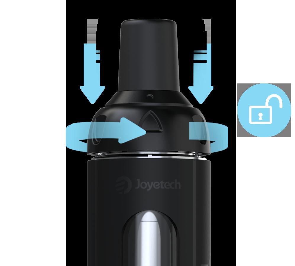Náustok Vďaka špeciálne zatočenému náustku získavate väčšiu ochranu proti prípadnému vyprsknutiu e-liquidu do úst.