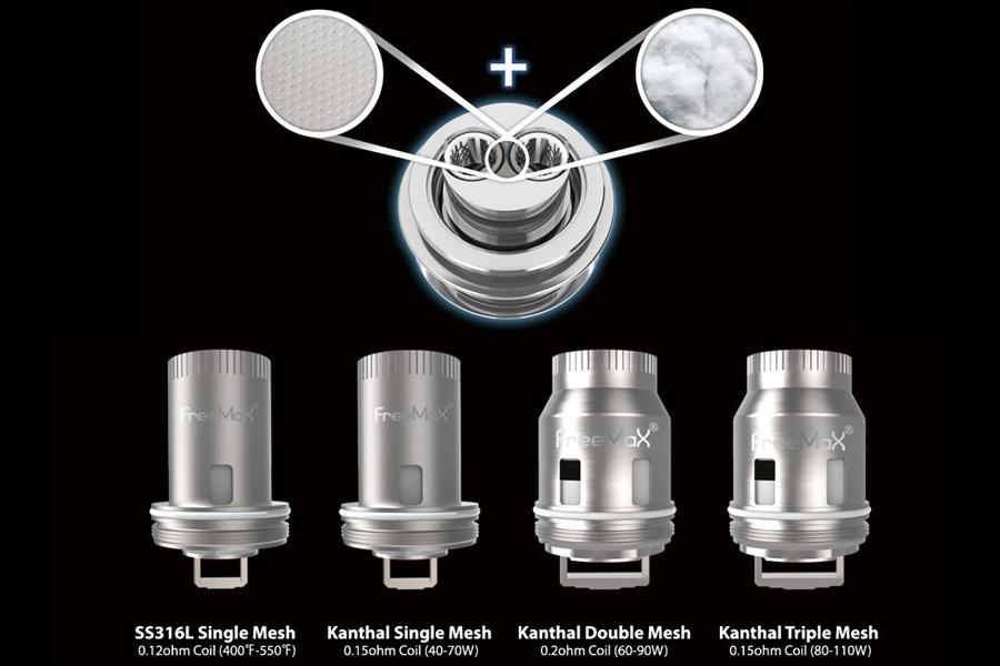 Freemax Mesh Pro na továrenské hlavy (www.e-smoke.sk)