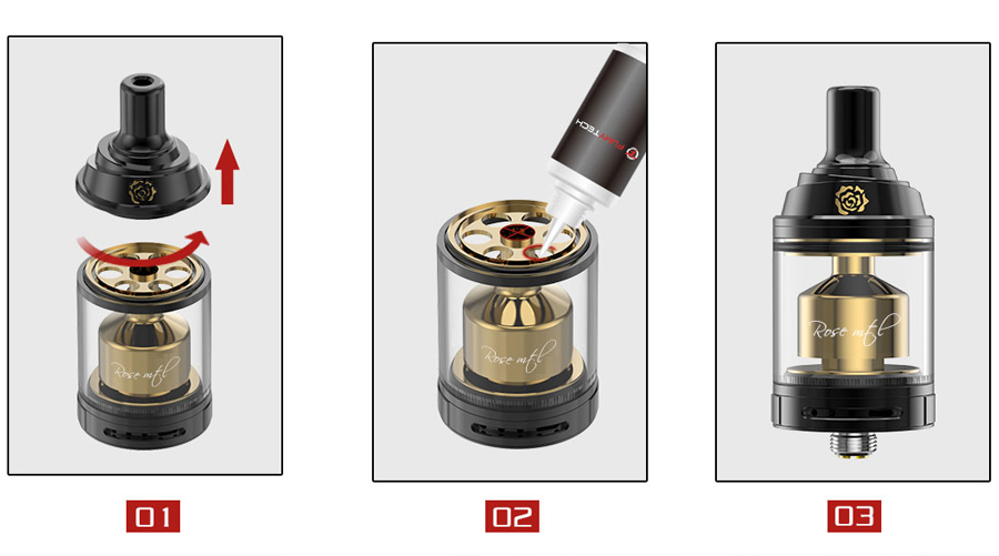 Fumytech Rose MTL RTA gold edition (www.e-smoke.sk)