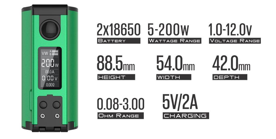 DOVPO Topside Dual 200W Squonker MOD - objem 10ml