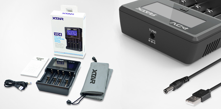 Xtar VC4 Li-ion/Ni-MH nabíjačka pre monočlánky (www.e-smoke.sk)